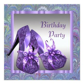 Le talon haut chausse la fête d'anniversaire carton d'invitation  13,33 cm