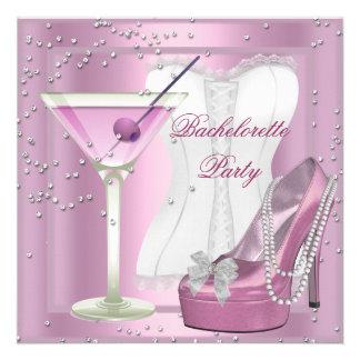Le talon haut de corset de rose de partie de Bache Faire-parts