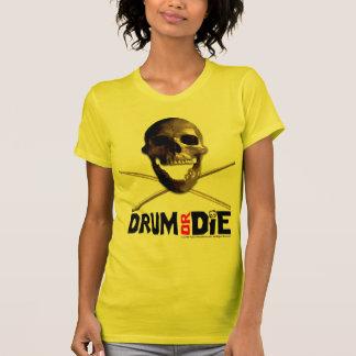 """Le """"tambour ou meurent"""" T-shirt jaune"""