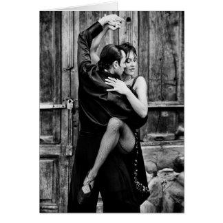 Le tango carte de vœux