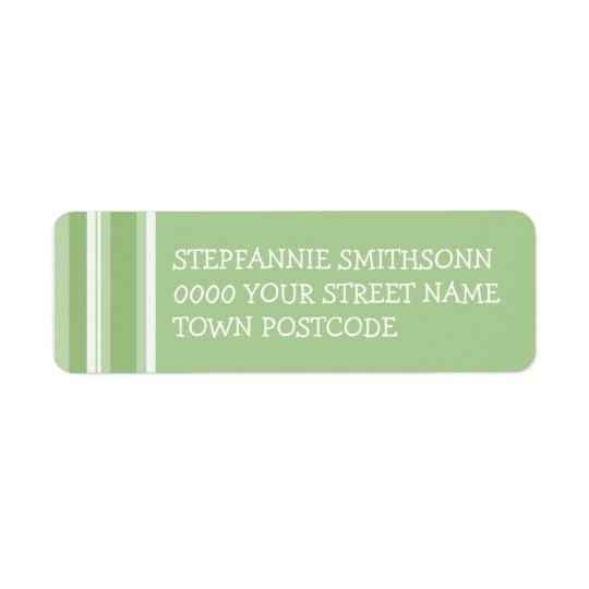 Le tango de chute barre l'étiquette de adresse de étiquette d'adresse retour