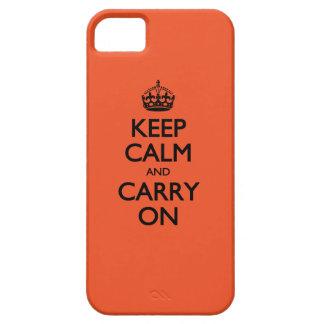 Le tango de mandarine gardent le calme et continue iPhone 5 case