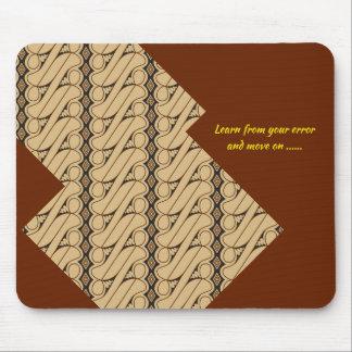 Le tapis de souris de style de batik encouragent