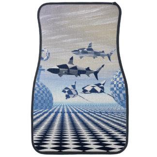 Le tapis moderne de voiture de requin tapis de voiture