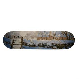 Le tarte de La de pie par Claude Monet Skateboard Customisable