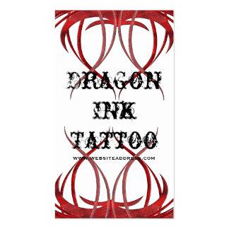Le tatouage rouge a conçu des cartes de visite carte de visite standard