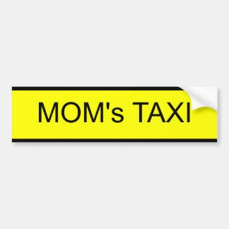 le taxi de la maman autocollant pour voiture