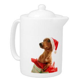 Le teckel père Noël - le chien de père Noël -