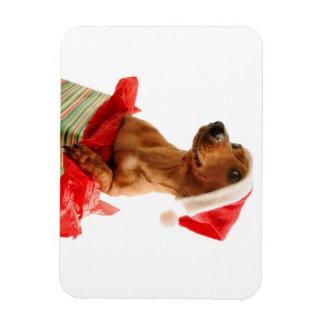 Le teckel père Noël - le chien de père Noël - Magnet Flexible