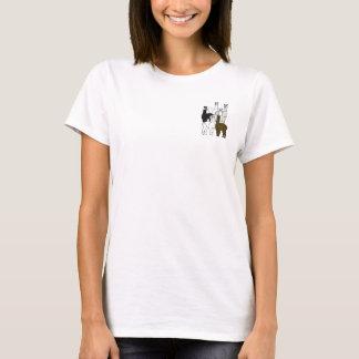 Le tee - shirt des femmes de roche d'alpaga t-shirt