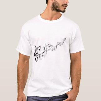 Le tee - shirt des hommes de note musicale t-shirt
