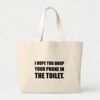Le téléphone tombe dans la toilette grand sac