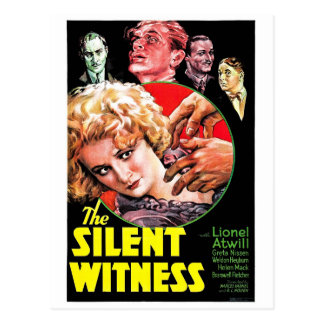 Le témoin silencieux cartes postales