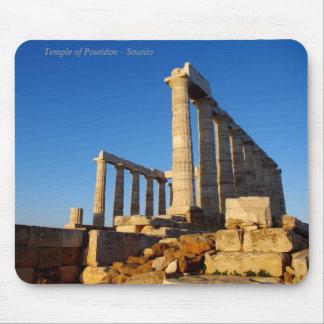 Le temple de Poseidon dans Sounio Tapis De Souris