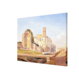 Le temple de Vénus et de Rome, Rome, 1840 (huile s Toiles