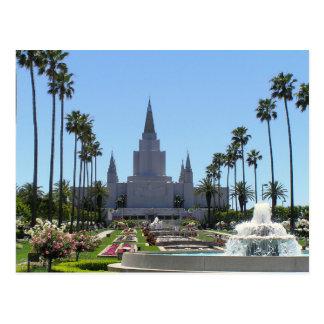 Le temple d'Oakland la Californie LDS Carte Postale