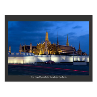 Le temple royal à Bangkok Thaïlande Carte Postale