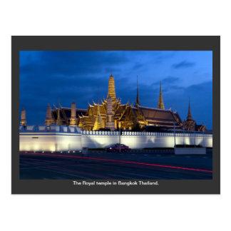 Le temple royal à Bangkok Thaïlande Cartes Postales