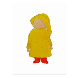 Le temps avril de Toddie verse l'enfant en bas âge Carte Postale