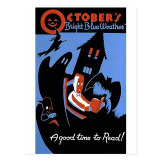 Le temps bleu lumineux d'octobre cartes postales