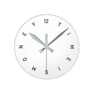 Le temps, c'est de l'argent - horloge murale