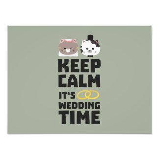 le temps de mariage gardent Zitj0 calme Impression Photographique