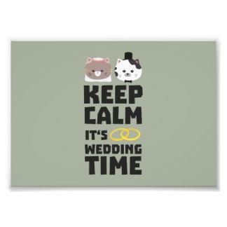 le temps de mariage gardent Zitj0 calme Photo D'art
