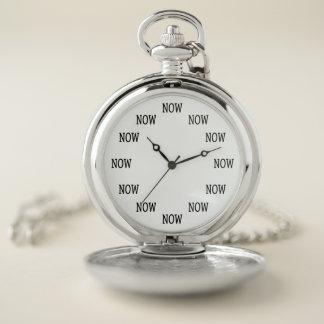 Le temps est MAINTENANT montre de poche