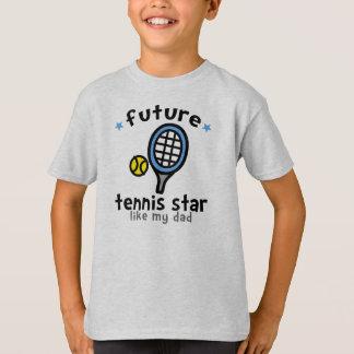 Le tennis aiment le papa t-shirt