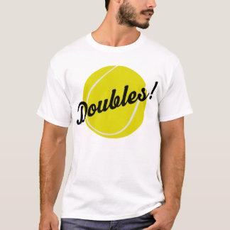 Le tennis double le cadeau t-shirt