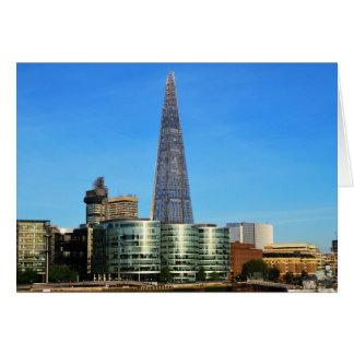 Le tesson du verre à Londres Cartes De Vœux