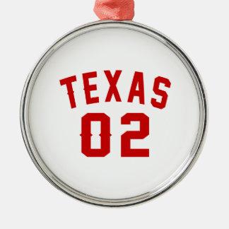 Le Texas 02 conceptions d'anniversaire Ornement Rond Argenté