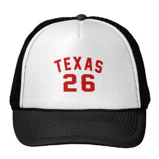 Le Texas 26 conceptions d'anniversaire Casquette Trucker