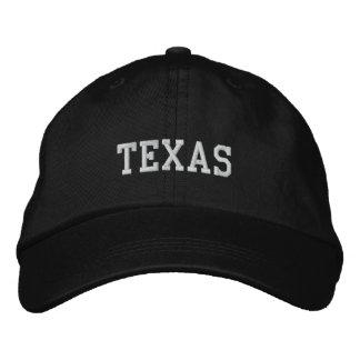 Le Texas a brodé le noir réglable de casquette