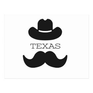 Le Texas dans le blanc Cartes Postales