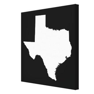 Le Texas dans le blanc et le noir Toiles