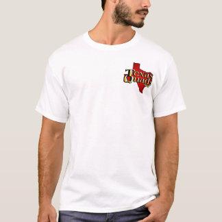 Le Texas quadruple le logo empilé - blanc T-shirt
