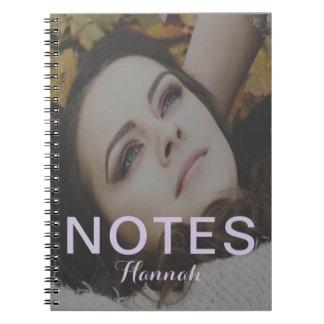 Le texte de notes de pourpre ajoutent le nom et le carnets à spirale