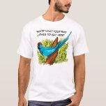 Le texte parlant de perroquet de ringneck est t-shirt