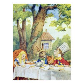 Le thé du chapelier fou cartes postales