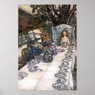 Le thé du chapelier fou posters