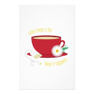 Le thé est bonheur papeterie