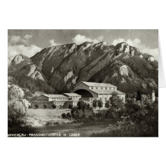 Le théâtre chez Oberammergau, 1930 Carte De Vœux