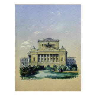 Le théâtre d'Alexandre à St Petersburg, 1841 Carte Postale