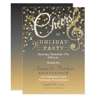 Le thème de musique de lumières de scintillement carton d'invitation  12,7 cm x 17,78 cm