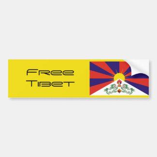 Le Thibet/drapeau tibétain. Le Thibet libre Autocollant De Voiture