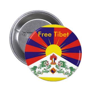 Le Thibet libre Badges Avec Agrafe