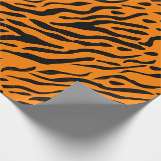 Le tigre a barré le papier d'emballage - cadeaux papiers cadeaux