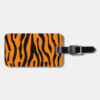 Le tigre a barré l'étiquette de bagage - appeler étiquettes bagages