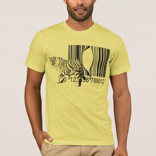 Le tigre drôle libèrent le vecteur t-shirt